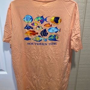 Southern tide mens large orange t shirt